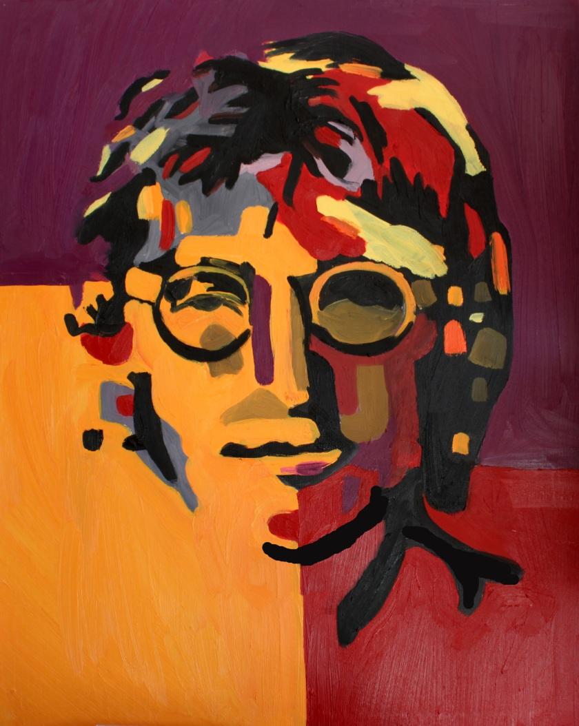 """""""Lennon,"""" Quyn Do, Oil on Canvas, 22x28."""