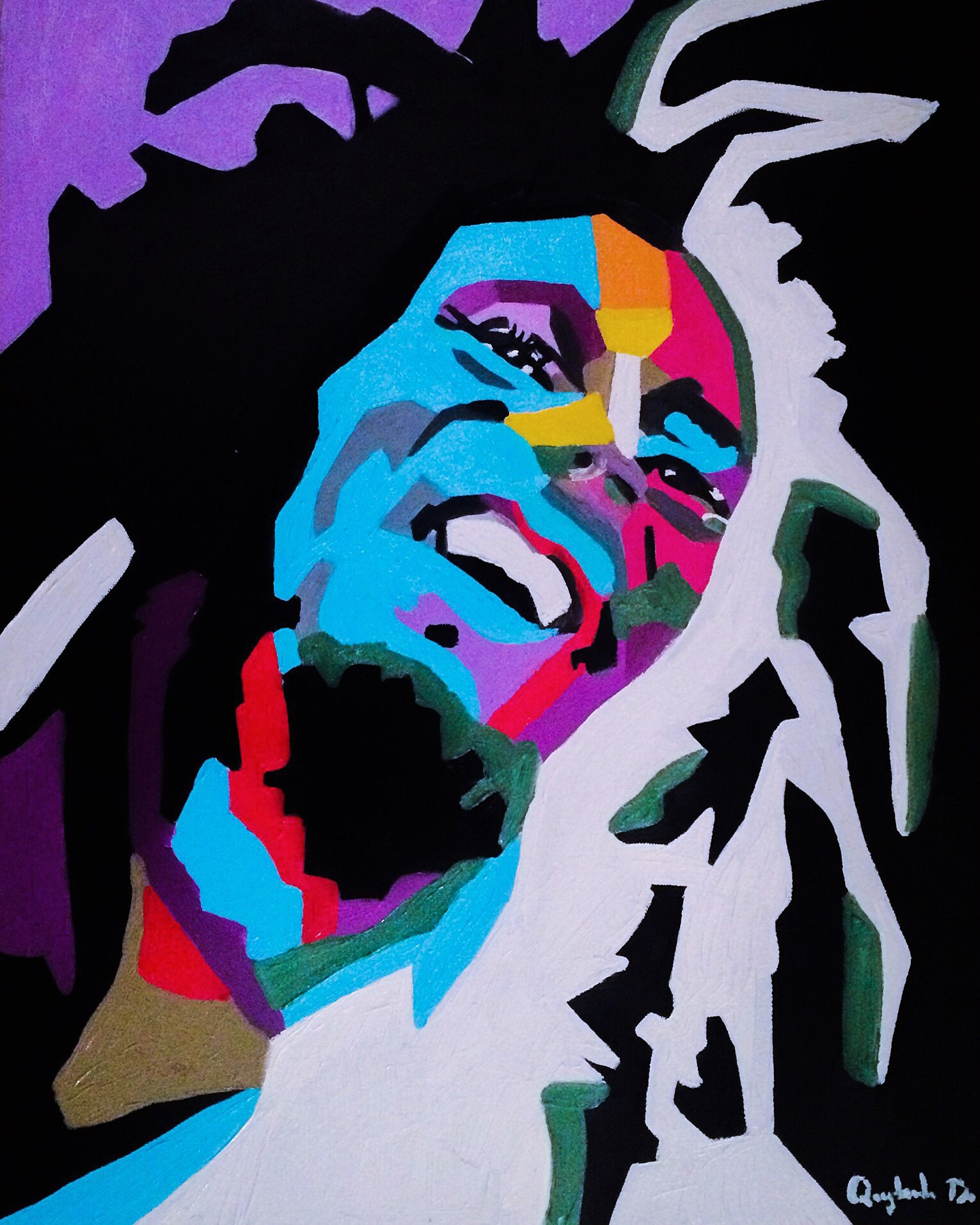 Bob Marley, Quyn Do, Oil on Canvas, 18x24, $7,500