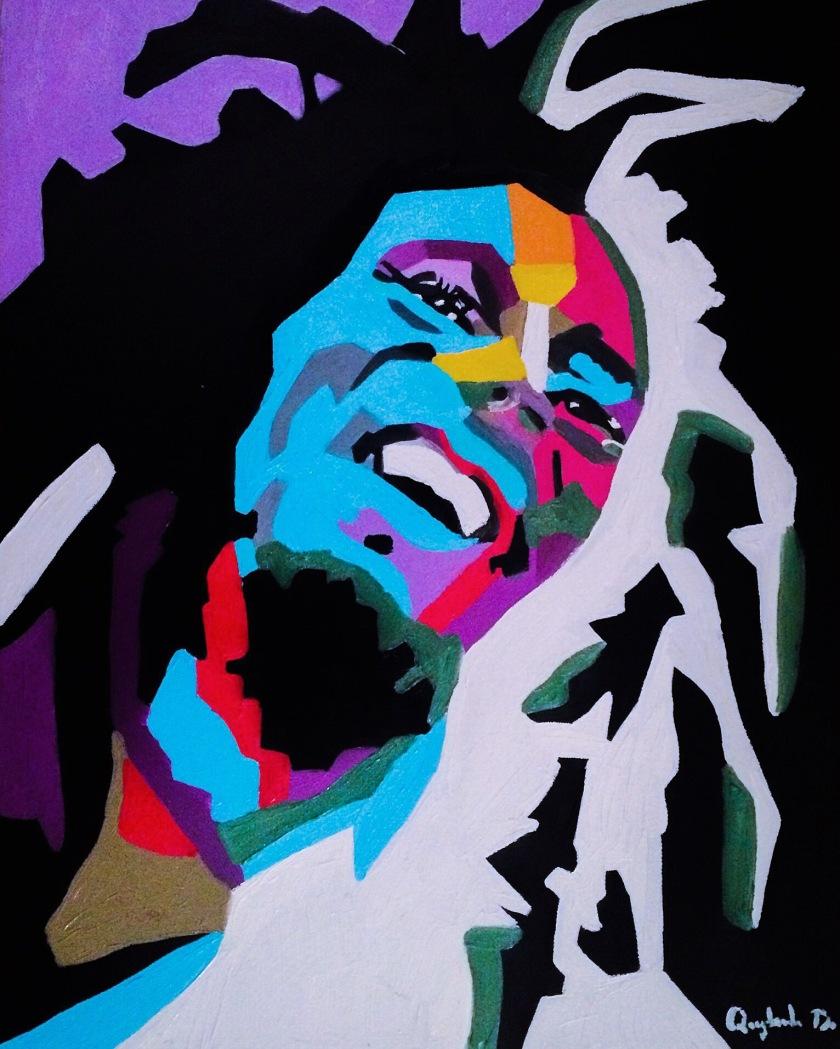 Bob Marley, Quyn Do, Oil on Canvas, 18x24, $7,500