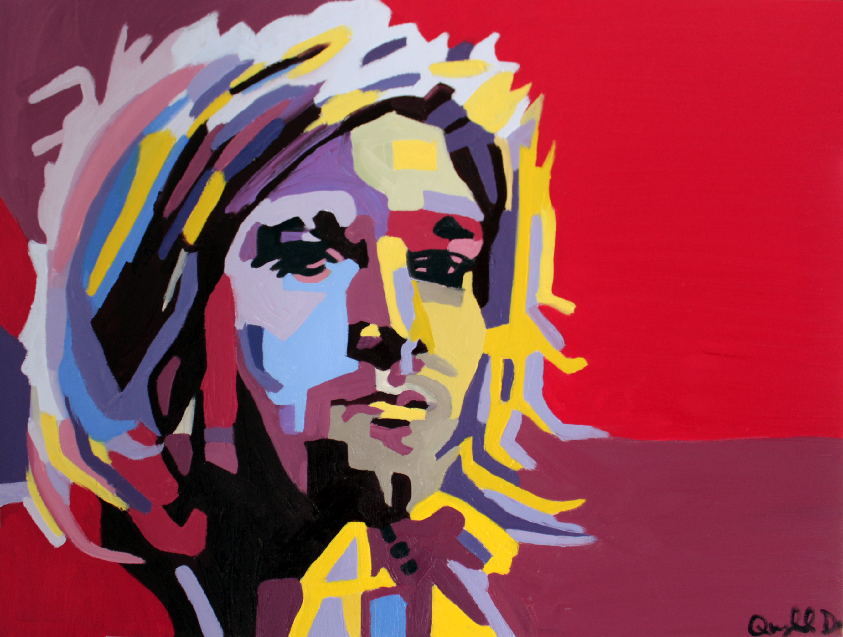 """Kurt Cobain,"" Quyn Do, Oil on Canvas, 18x24, $7,500"