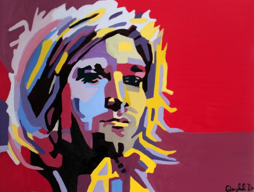 """""""Kurt Cobain,"""" Quyn Do, Oil on Canvas, 18x24, $7,500"""